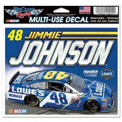 "Jimmie Johnson Multi-Use Colored Decal - 5"" x 6"""