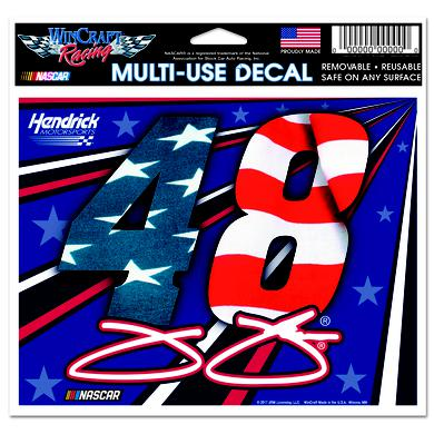 "Jimmie Johnson #48 Patriotic Multi-Use Decal - 5"" x 6"""