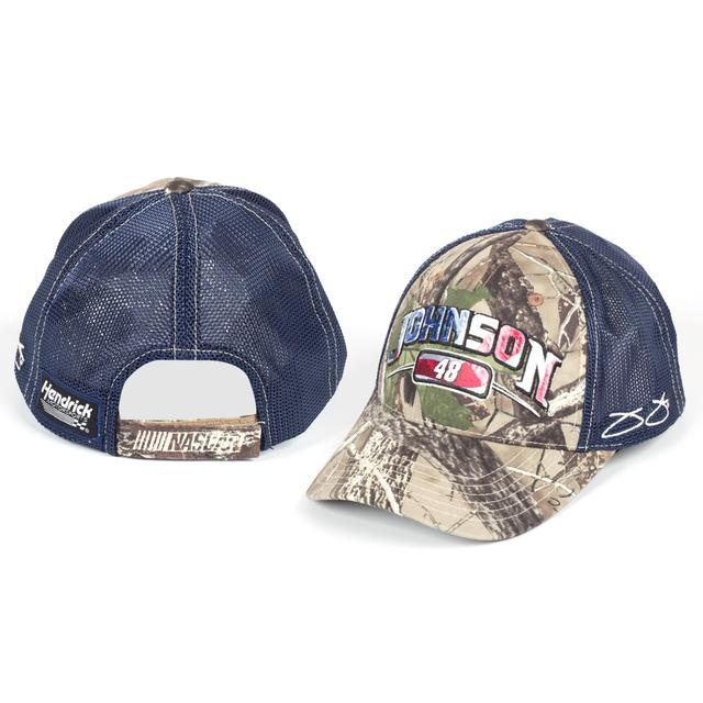 Jimmie Johnson #48 Camo/Blue Hat