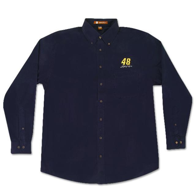 Jimmie Johnson #48 Twill Navy Shirt