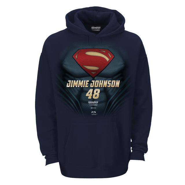 Jimmie Johnson #48 Superman Man of Steel Hoodie