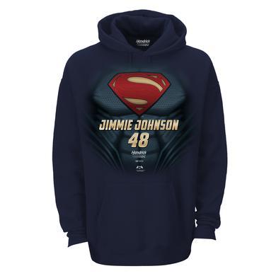 Jimmie Johnson #48 Superman Man of Steel Hoodie
