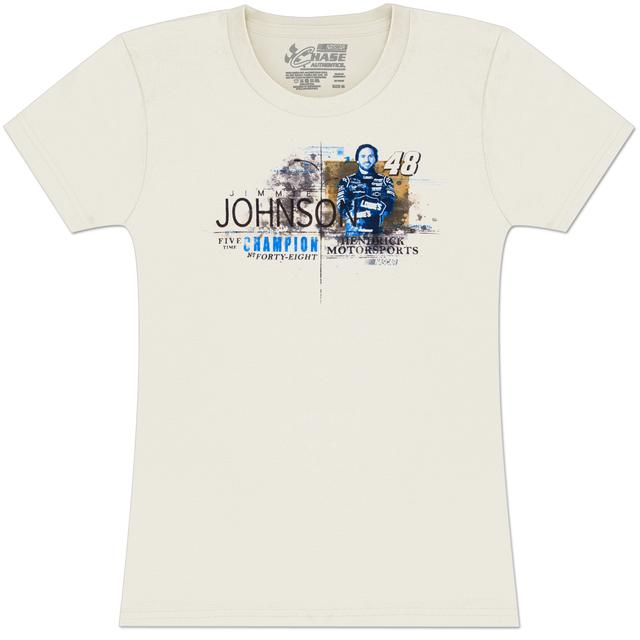 Jimmie Johnson #48 Ladies Vintage Speed T-shirt