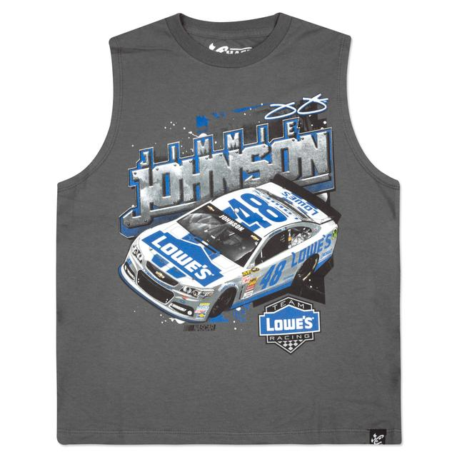 Jimmie Johnson #48 Lowe's Youth Wedge Muscle T-shirt
