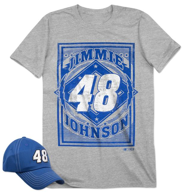 Jimmie Johnson Men's SS Driver Tee & Cap Combo