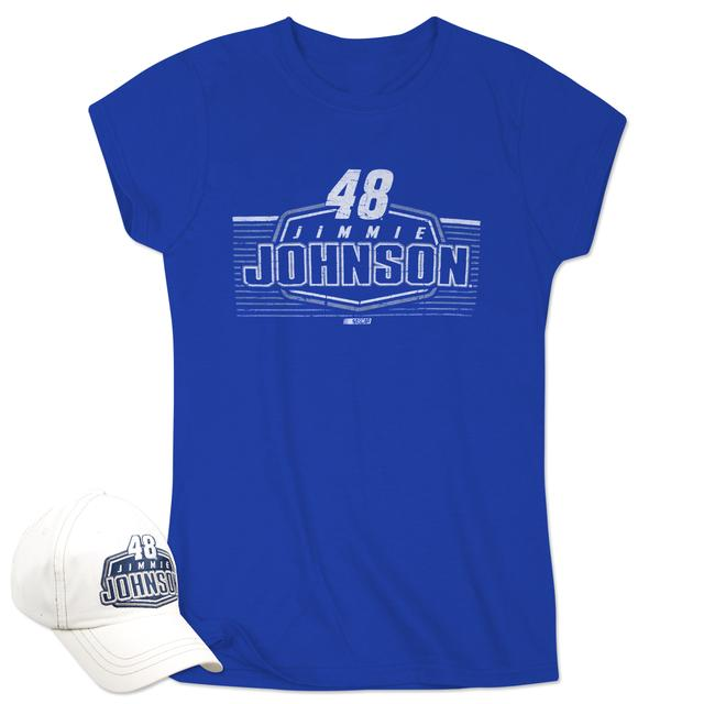 Jimmie Johnson Ladies SS Driver Team Tee & Cap Combo