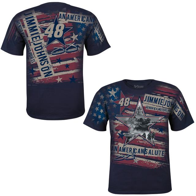 Jimmie Johnson American Salute Total Print T-Shirt