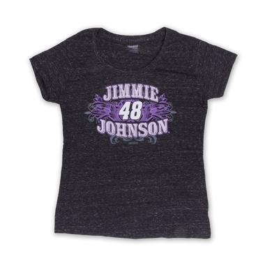 Jimmie Johnson Jimmie  #48 Women's Tri Blend Gnarly T-Shirt