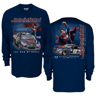 Jimmie Johnson #48 Superman Long Sleeve Sidekick T-Shirt