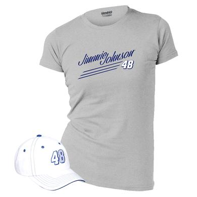Jimmie Johnson Ladies Hat & T-shirt Combo