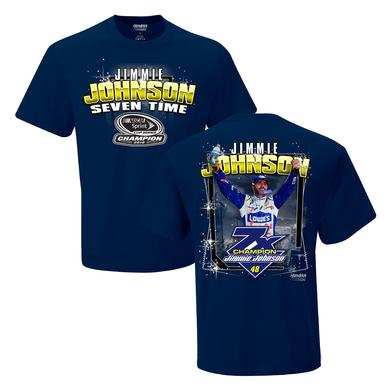 Jimmie Johnson 2016 NASCAR Champ 2-spot Graphic T-shirt