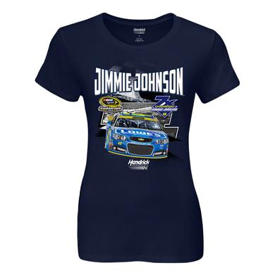 Jimmie Johnson 2016 NASCAR Champ Ladies 1-spot Graphic T-shirt