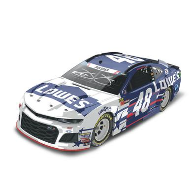 AUTOGRAPHED Jimmie Johnson 2018 NASCAR Cup Series No. 48 Patriotic ELITE 1:24 Die-Cast