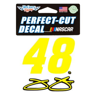 "Jimmie Johnson #48 2018 NASCAR Perfect Cut Decal - 4"" x 4"""