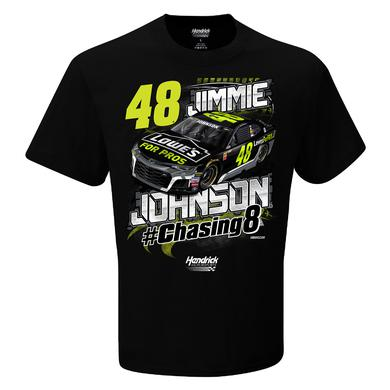 Jimmie Johnson 2018 #48 Chasing 8 EXCLUSIVE T-shirt