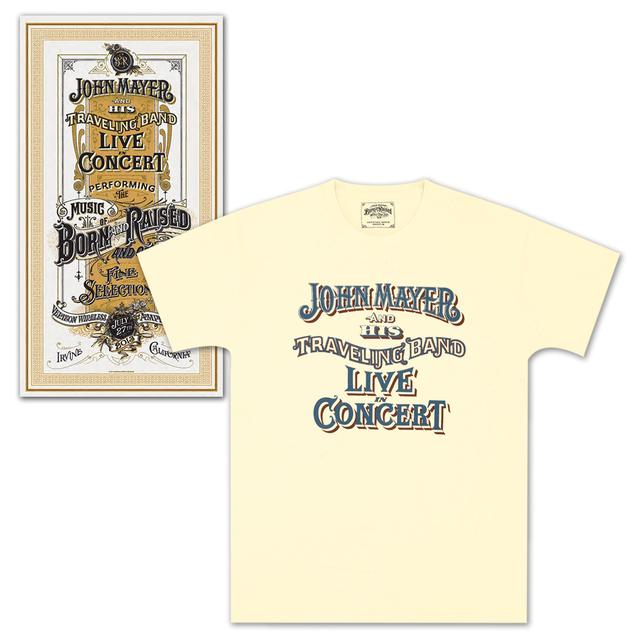 John Mayer Irvine Event Poster and T-Shirt Combo
