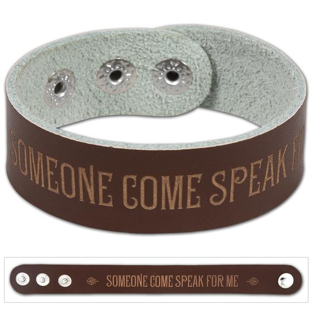 "John Mayer ""Speak For Me"" Leather Wristband"