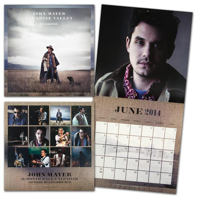 John Mayer 2014 Paradise Valley Wall Calendar