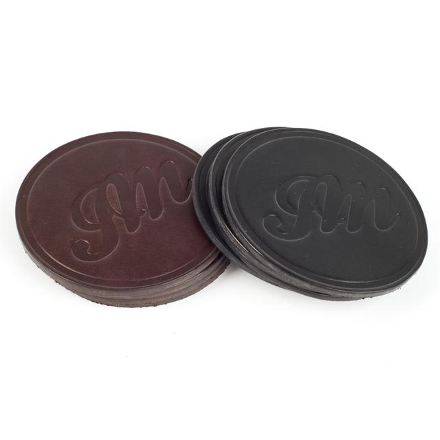John Mayer JM Circle Script Coasters by Cascadian Fabrications (Set of 4)