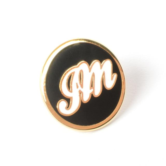 John Mayer Circle JM Script Lapel Pin
