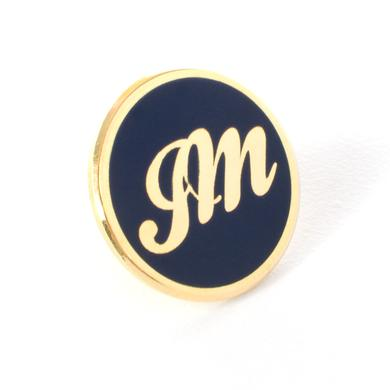 John Mayer Circle Gold JM Script Lapel Pin