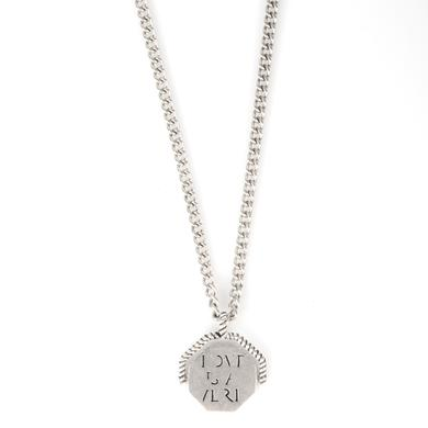 "John Mayer Revolving ""LOVE IS A VERB"" Necklace"