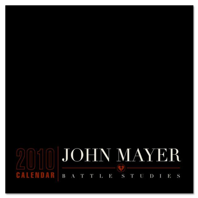 John Mayer Battle Studies 2010 Wall Calendar