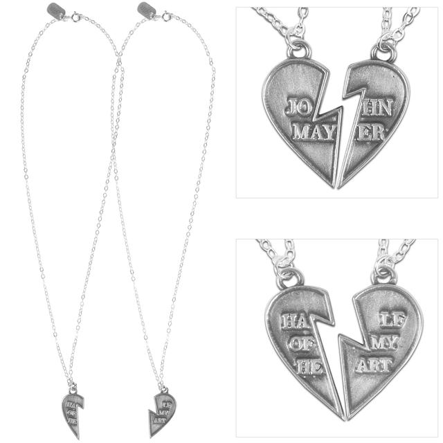 "John Mayer ""Half of my Heart"" Pendant Necklace Set"