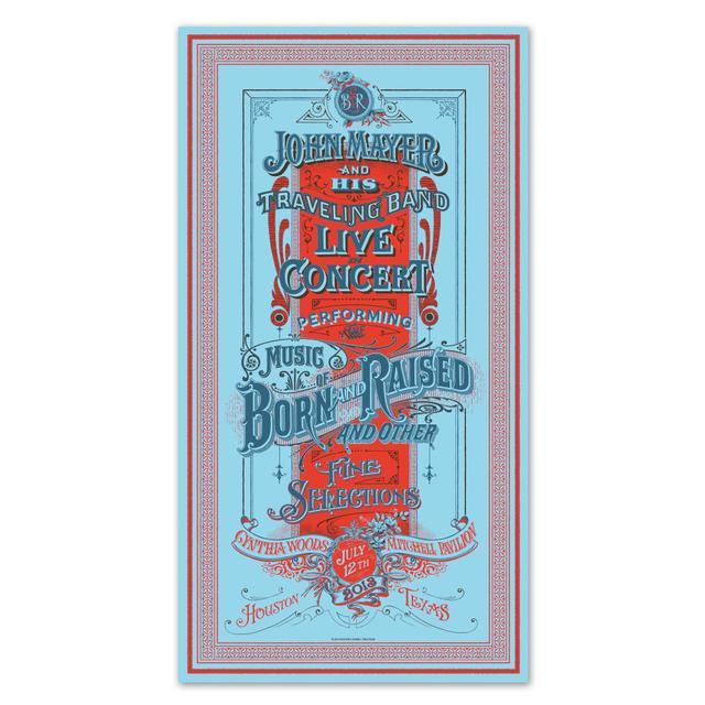 John Mayer Houston Event Poster