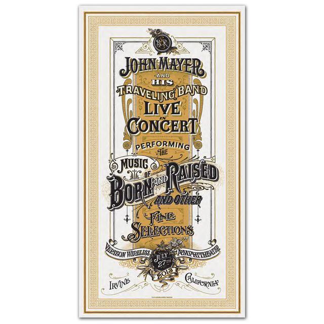John Mayer Irvine Event Poster