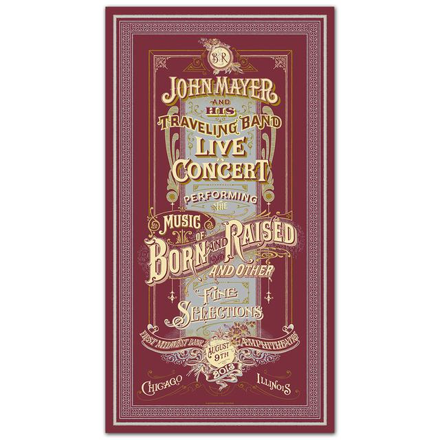 John Mayer Tinley Park, IL Event Poster