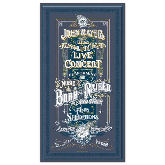 John Mayer Noblesville, IN Event Poster