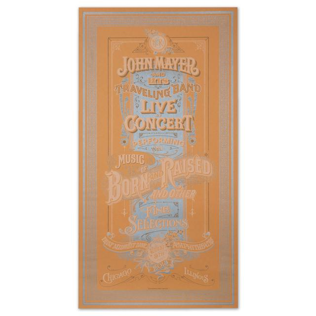 John Mayer Chicago Event Poster
