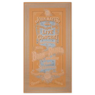 John Mayer Chicago Event Poster