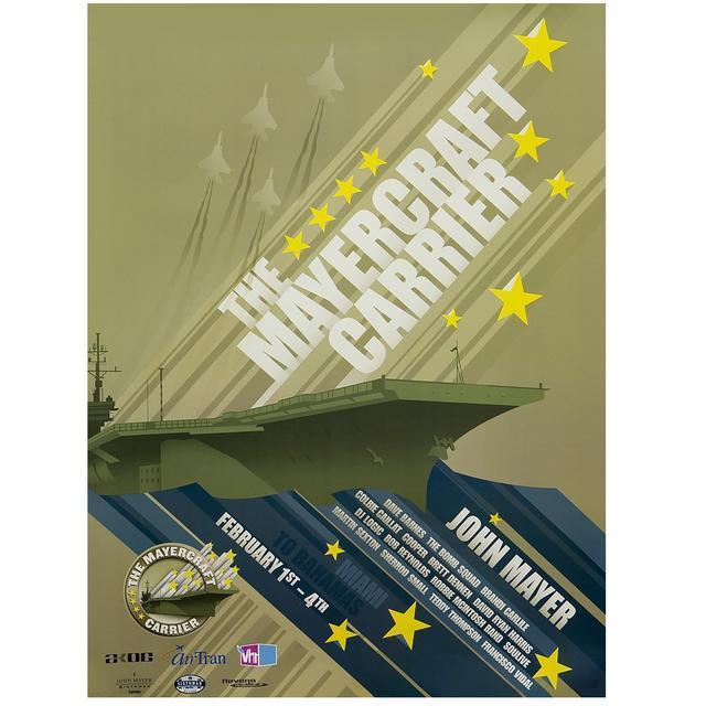 John Mayer 2008 Mayercraft Carrier Poster