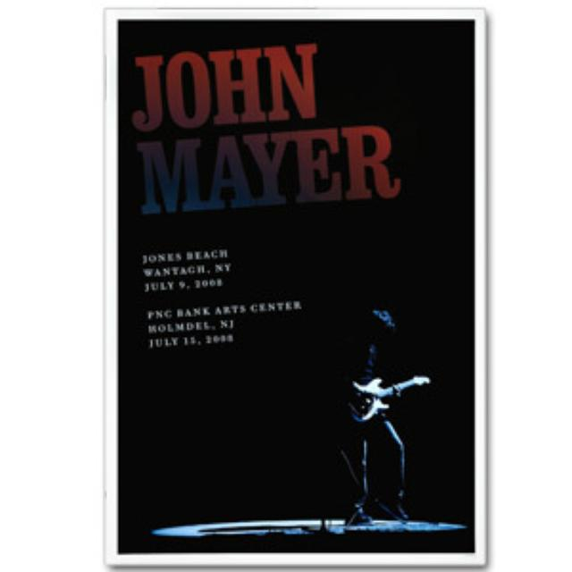 John Mayer - NY/NJ 2008 Tour Poster