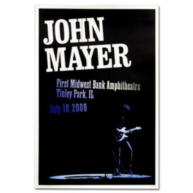 John Mayer - Chicago 2008 Tour Poster