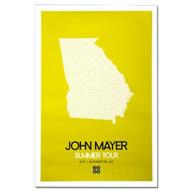 John Mayer - Atlanta 2008 Tour Poster