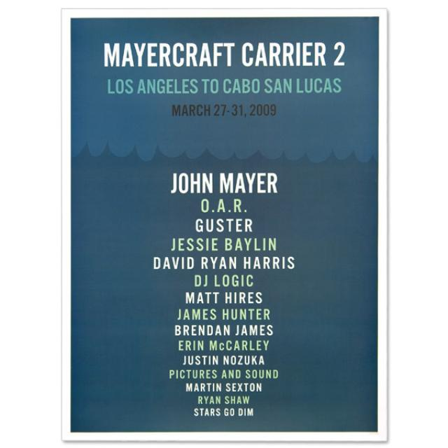 John Mayer - Mayercraft Carrier 2 Poster - Waves