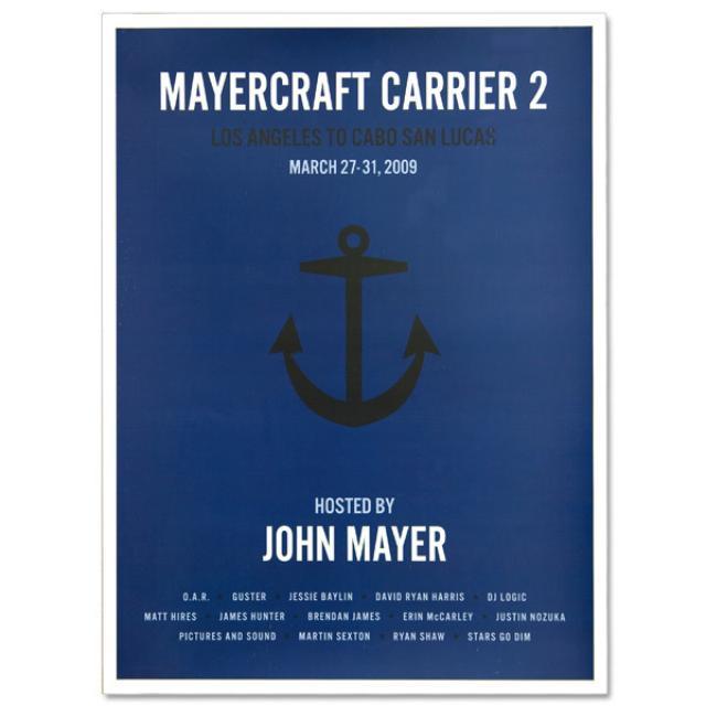 John Mayer - Mayercraft Carrier 2 Poster - Anchor