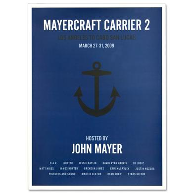 John Mayer - Mayercraft Carrier 2 Poster - Anchor