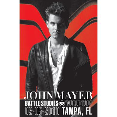 John Mayer 2/5/10 Tampa Battle Studies Tour Poster