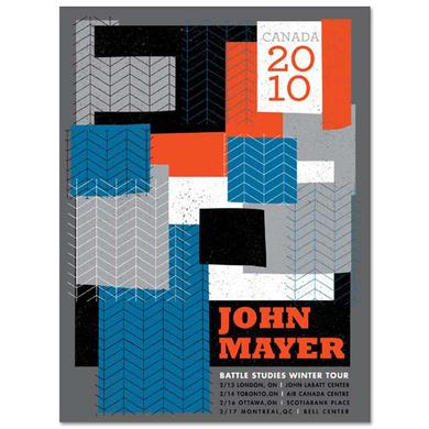 John Mayer 2010 Canadian Dates Battle Studies Tour Poster