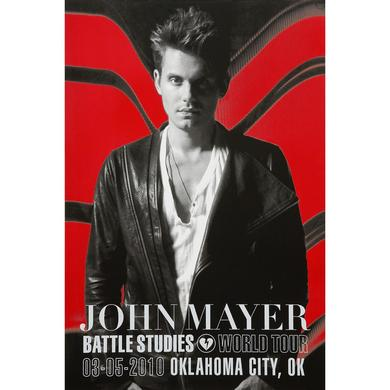 3/5/2010 Oklahoma City, OK Battle Studies John Mayer Tour Poster