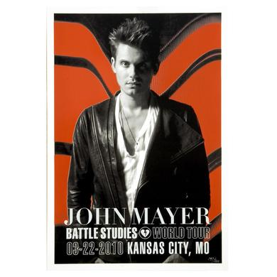 3/22/10 Kansas City, MO Battle Studies John Mayer Tour Poster