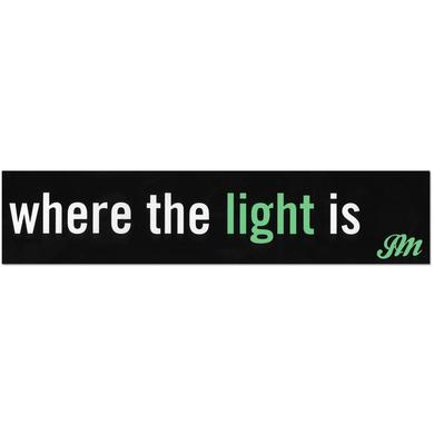 John Mayer Where The Light Is Sticker