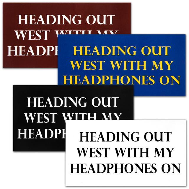 "John Mayer ""Heading Out West"" Stickers"