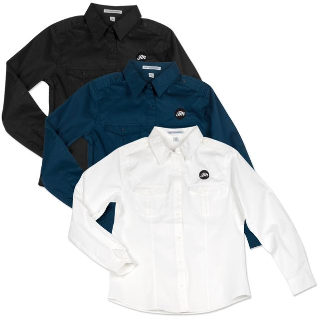 John Mayer Women's Roll Sleeve Twill Shirt