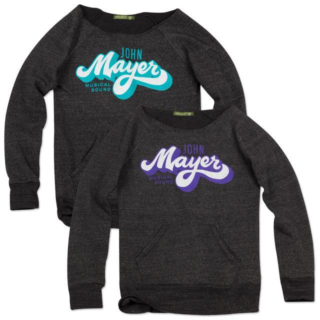 John Mayer Brush Script Boatneck Fleece