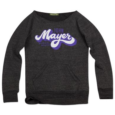 John Mayer Brush Script Boatneck Fleece